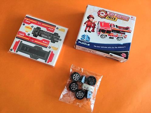 Puzzle 3D cartón Camión bombero