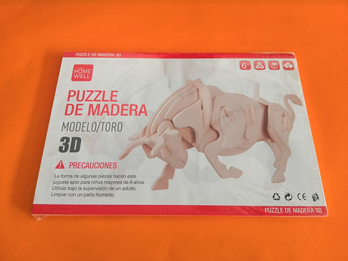 Puzzle de madera Toro