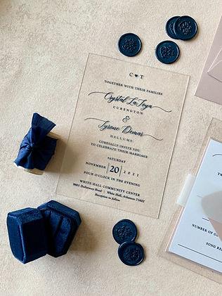 The Prettiest Pixel Acrylic Invitations