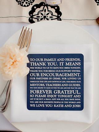 Thank You + Reception