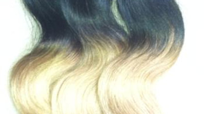 1/2 Platinum Blonde Ombre Loose Wave