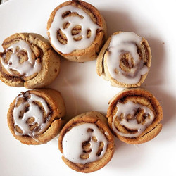 Home baked #glutenfree cinnamon rolls for brunch today, because everyone needs a treat sometimes - r
