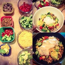 Burrito bowls for dinner_#glutenfree #healthyliving #healthyfood #weightloss #gf #fitfam #kidapprove