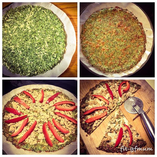 Success! The kids liked it way better than the cauliflower #pizza base ❤️❤️❤️👍_#glutenfree #portion