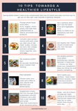 10 Tips towards a healthier lifestyle