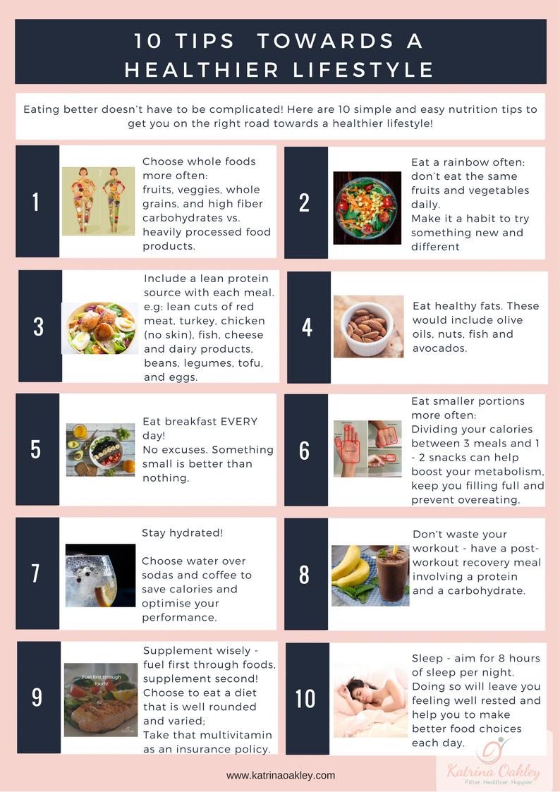 10 tips to healthier lifestyle