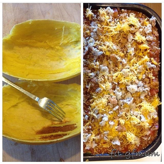 I love how versatile spaghetti squash is, use it as pasta or in a bake
