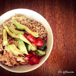 A bowl of yumminess for lunch today!_#healthyeating #wholefoods #healthylifestyle #avocardomakesever