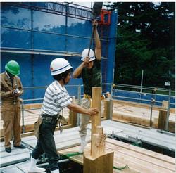 松江城 櫓 組立作業