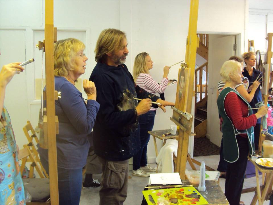 Portrait workshop at Pegasus Art, Stroud