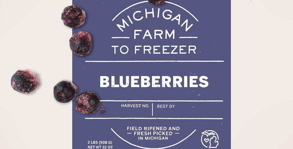 Farm to Freezer Organic Blueberries 2lbs