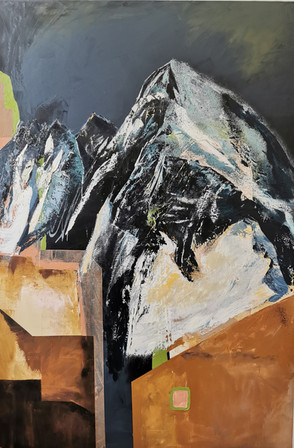 _Mountain in the city_ oil on canvas 202