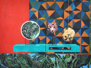 """""""Tiger's Head"""" acrylic, 150cm x 200cm :"""