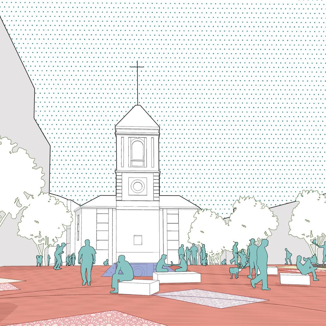 Recorriendo la plaza/ Sucesión de espacios públicos