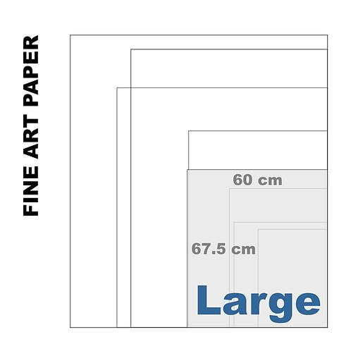 Velvet Fine Art Large Paper Print (255 g/m²)