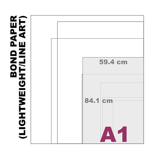 A1 Bond Paper [Lightweight/Line Art] (80 g/m²)