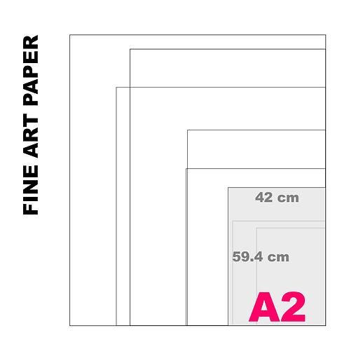 Velvet Fine Art A2 Paper Print (255 g/m²)
