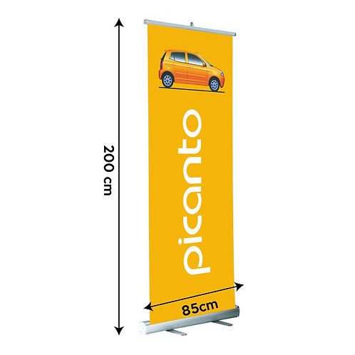 Pull-Up Banner 85cm wide; up to 2m high