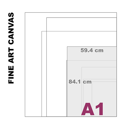 Gallery Fine Art A1 Canvas (Extra White Luster) 395 g/m²