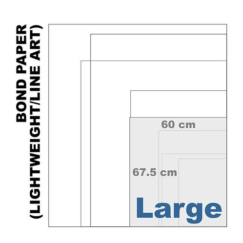 Large Bond Paper [Lightweight/Line Art] (80 g/m²)