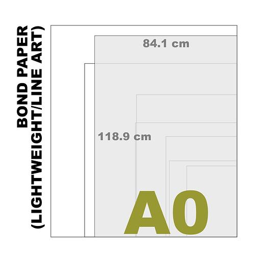 A0 Bond Paper [Lightweight/Line Art] (80 g/m²)