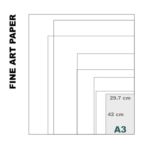 Velvet Fine Art A3 Paper Print (255 g/m²)
