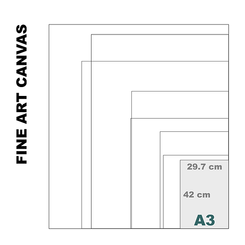 Gallery Fine Art A3 Canvas (Extra White Luster) 395 g/m²