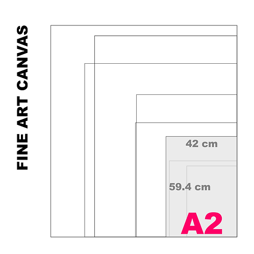 Gallery Fine Art A2 Canvas (Extra White Luster) 395 g/m²