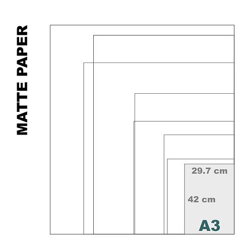 Enhanced Matte A3 Paper Print (189 g/m²)