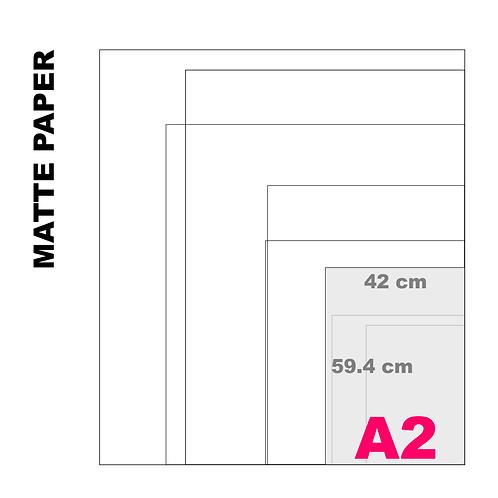 Enhanced Matte A2 Paper Print (189 g/m²)