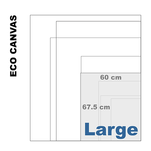 Top Grade Eco Large Canvas Print (Matte) 370+ g/m²)