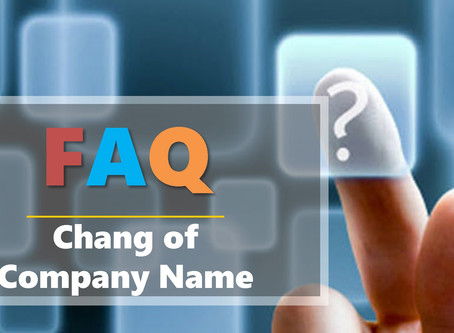 FAQ - Change of Company Name