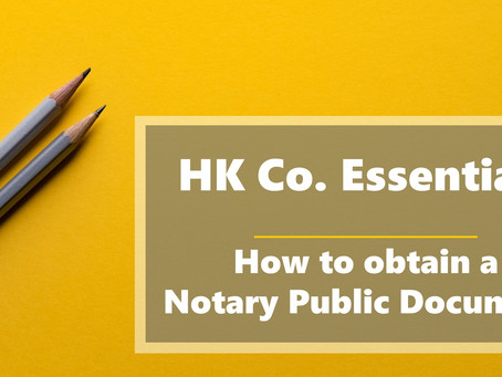 HK Co. Essentials - How to Find a Notary Public in Hong Kong