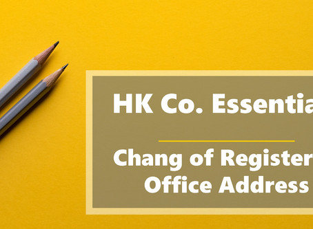 HK Co. Essentials - Change of Registered Office Address