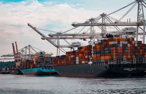 Cargo ships as part of a supply chain