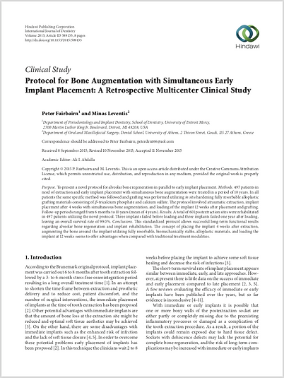 Protocol for Bone Augmentation
