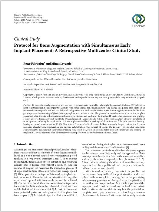 Protocol for Bone Augmentation