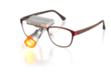 Butterfly LED auf DesignerBrille Morriz of Sweden