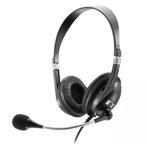Headphone Com Microfone Multilaser Premium Acoustic PH041 P2 Com Fio