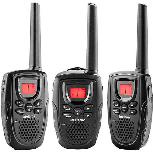Rádios Comunicador 26 Canais RC5003 Alcance 2 Km - Intelbras (Com 3 un)