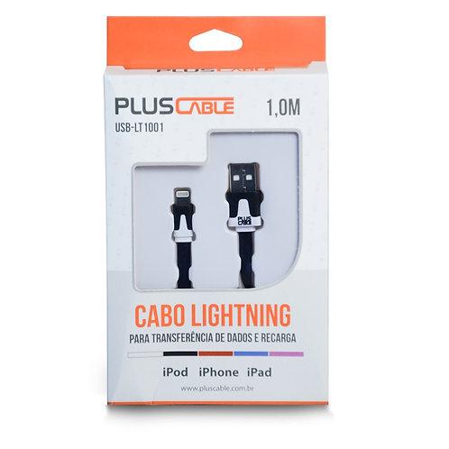 Cabo USB-Iphone 5/6 USB-LT1001 BK 1,0M Plus Cable