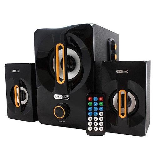 Sistema de audio subwoofer 2.1 25rms as-w817 preto Hard Line