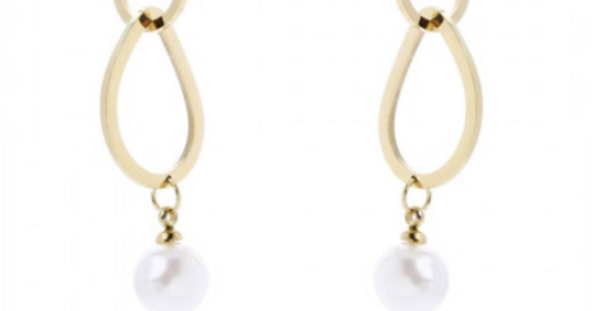 Ohrring Pearl Chain (stainless Steel)