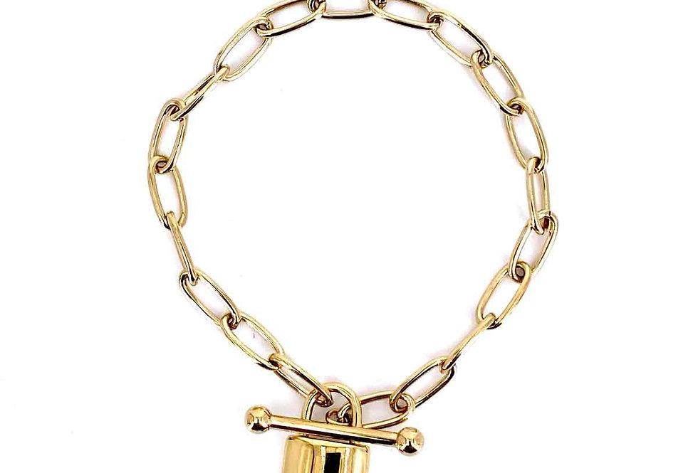 Armband mit Schloß (Stainless Steel)