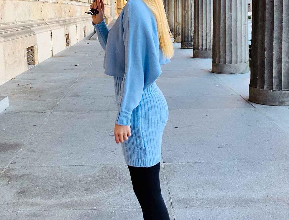 Zweiteiler: Kleid + Pullover