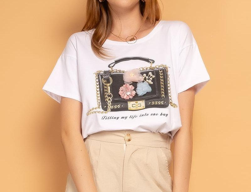 T-Shirt Flower Bag