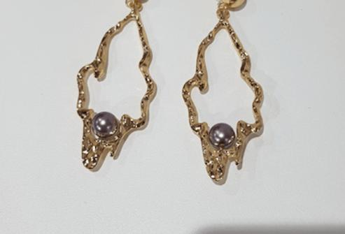 Ohrringe Levender Pearl