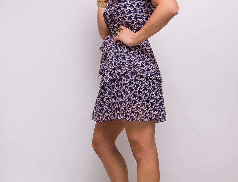 Mini-Kleid mit Print