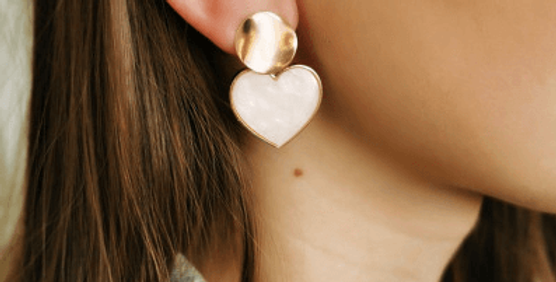 Ohrringe Perlmutt Heart