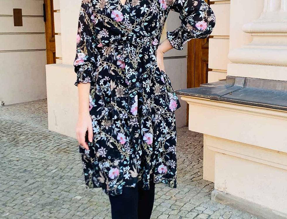 Midi-Kleid Blossom Chain